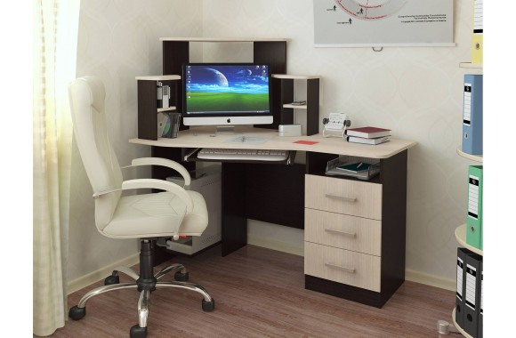 Угловой письменный стол компьютерный Каспер
