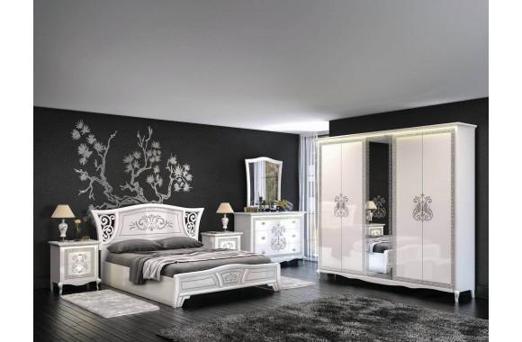 Спальные гарнитур Винтаж цвете Белый глянец