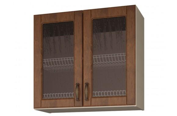 Шкаф-витрина с сушками двухдверный Николь 80 см