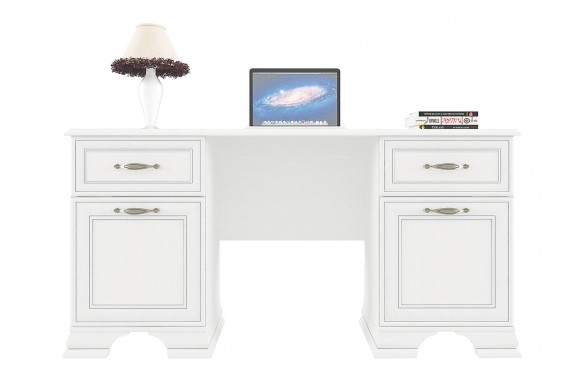 Угловой письменный стол Tiffany цвете Вудлайн кремовый