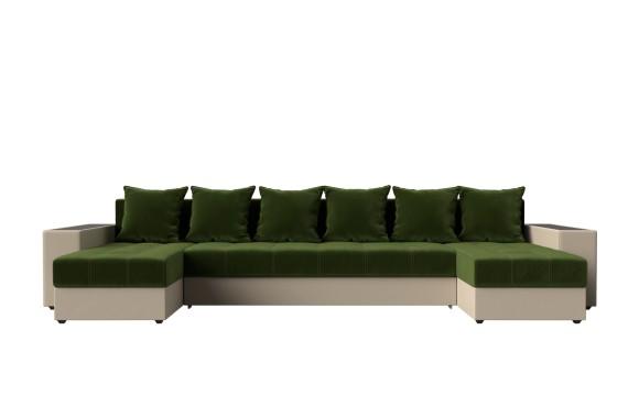 Кожаный диван Дубай П