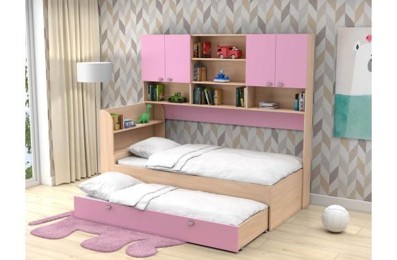 Детская кровать со шкафом Двухъярусная Golden Kids 8 (90х190/)