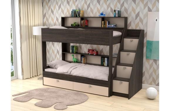 Детская кровать со шкафом Двухъярусная Golden Kids 10 (90х190)