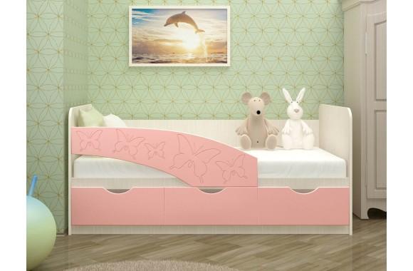 Детская кровать со шкафом Бабочки