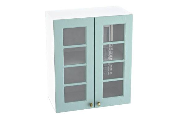 Кухонный шкаф навесной Прованс в цвете Голубой