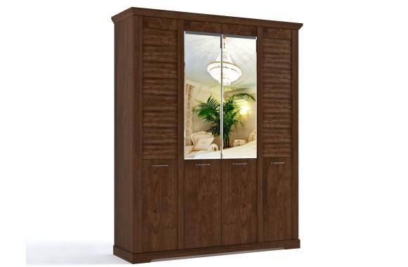 Шкаф Кантри в цвете Орех Рибек темный