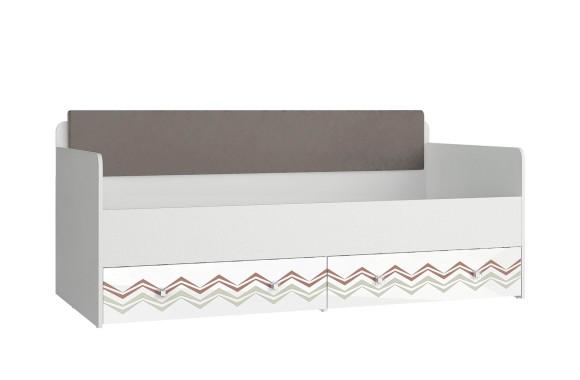 Кровать детская с мягким элементом Модерн - Абрис (90х190)