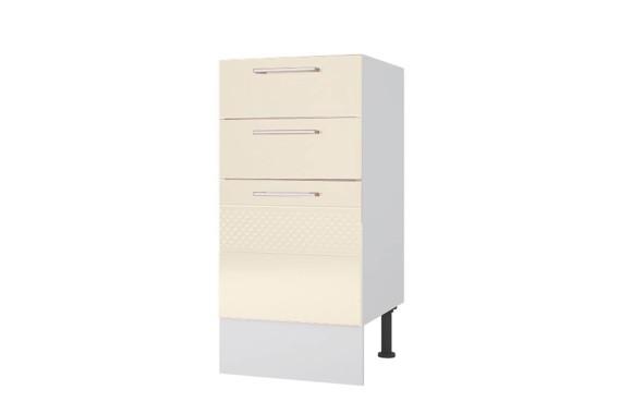 Шкаф-пенал Тумба напольная 40 с 3-мя ящиками Люкс