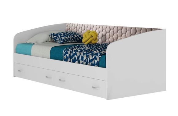 Кровать с мягким изголовьем Уника