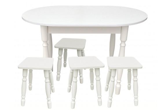 Овальный (Стол и 4 табурета)