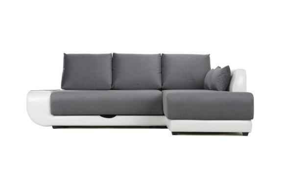 Кожаный диван Угловой с независимым пружинным блоком Поло LUX НПБ