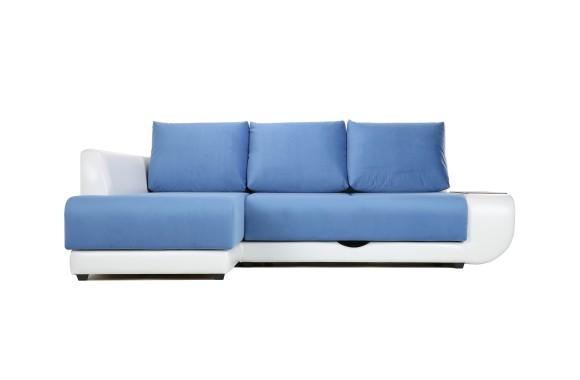 Кожаный диван Угловой Поло Lux (Нью-Йорк) Левый