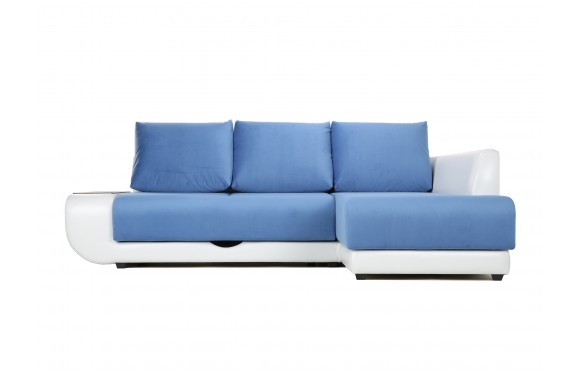 Кожаный диван Угловой Поло Lux (Нью-Йорк) Правый