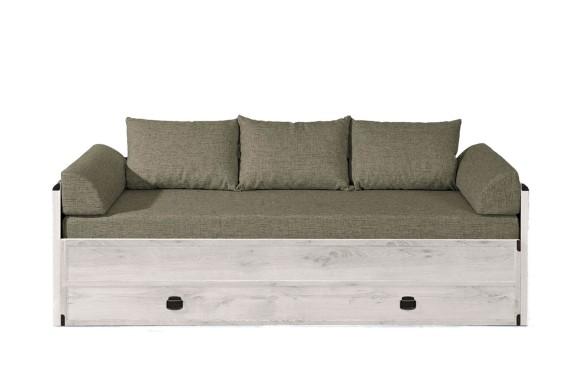 Кровать с бортиками Индиана в цвете Сосна Каньйон