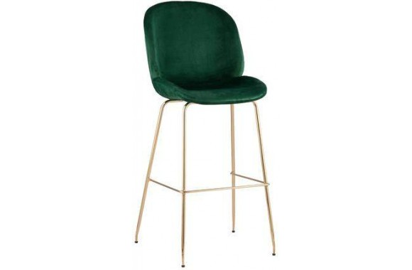 Барный стул Stool Group Beetle со спинкой изумрудный [8329C GREEN]