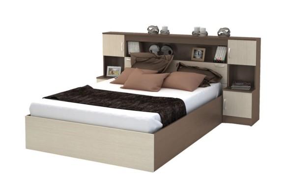 Кровать с прикроватным блоком КР-552 Бася (160х200)