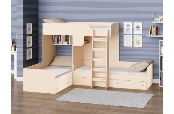 Кровать двухъярусная Трио