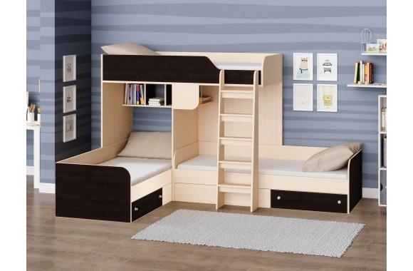 Кровать-чердак Трио