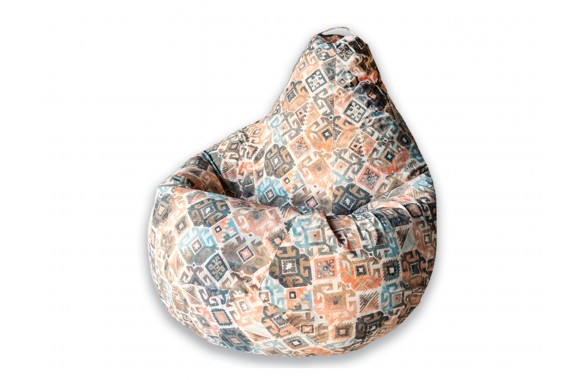 Кресло Мешок Ясмин Коричневое XL 125х85