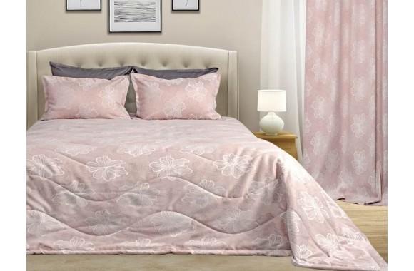 Набор FLOWERS покрывало с наволочками, цвет: розовый