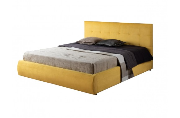 """Кровать Мягкая """"Selesta&; 1600 желтая с матрасом PROMO"""