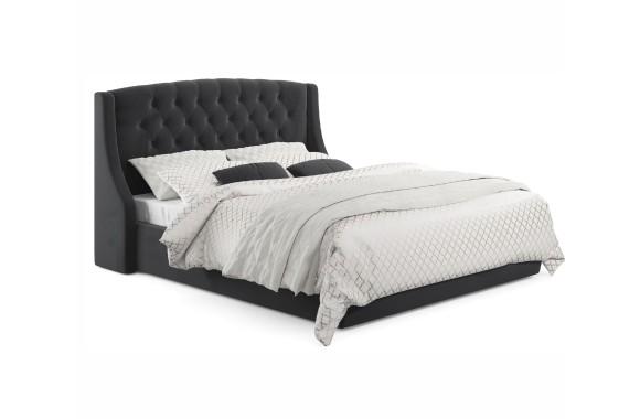 """Кровать Мягкая """"Stefani&; 1400 темная с подъемным механ"""