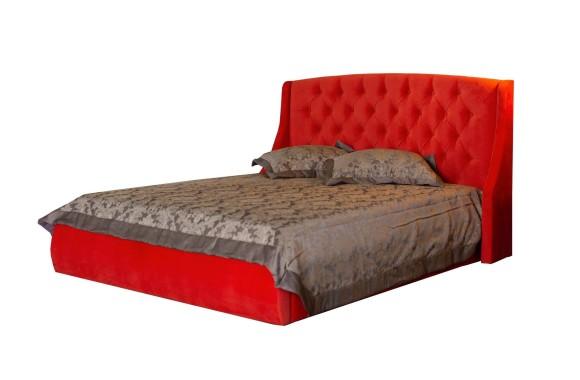 """Кровать Мягкая """"Stefani&; 1400 оранж с подъемным механи"""