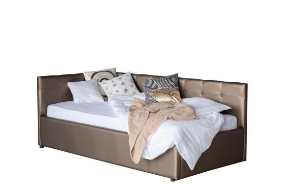 Тахта Односпальная кровать-Bonna 900 мокко с подъемным механизмо
