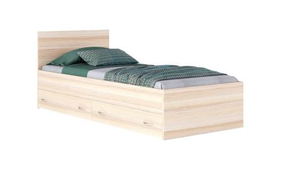 """Односпальная кровать """"Виктория&; 900 с ящиками дуб/"""