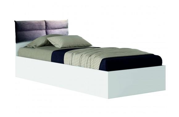 """Односпальная кровать белая """"Виктория-П&; 900 с мягким"""