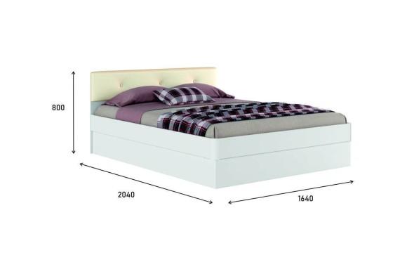 """Кровать Белая двуспальная """"Николь ЭКО-П&; 1600 с"""