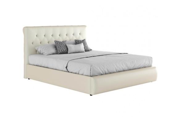 """Кровать Мягкая белая интерьерная """"Амели&; с подъемным"""