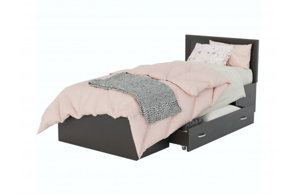 Кровать Адель 900 с багетом, ящиком и ортопедическим матрасом PR