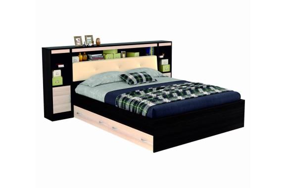"""Двуспальная кровать """"Виктория ЭКО-П"""" 1600 с мягким блоком"""