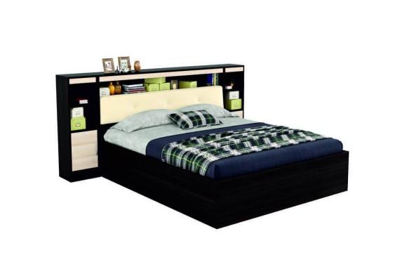 """Кровать 2-спальная """"Виктория ЭКО-П&; 160 мягким б"""