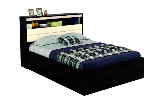 """Кровать """"Виктория МБ&; 1400 с мягким изголовьем, блоком"""