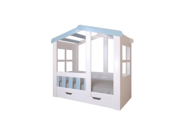Кровать-домик с ящиком Астра (80х160)