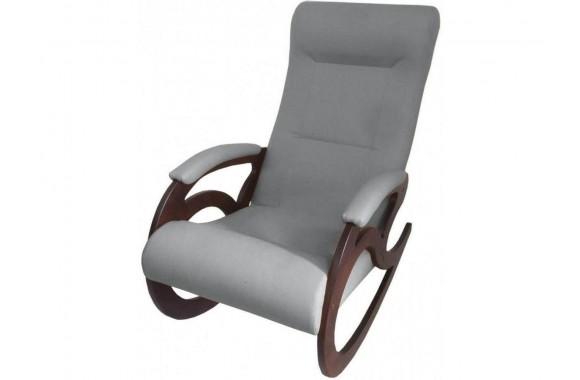 Кресло качалка Венера/Темный орех/Серый БИНГО 25