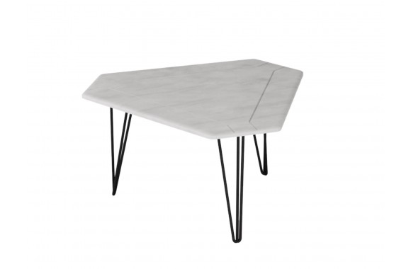 Гардеробная Стол журнальный ТЕТ 450 белый бетон