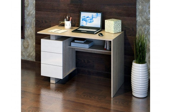 Компьютерный стол Ренцо-2 дуб сонома / белый