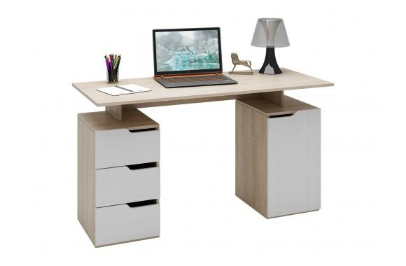 Компьютерный стол Нейт-3 дуб сонома / белый