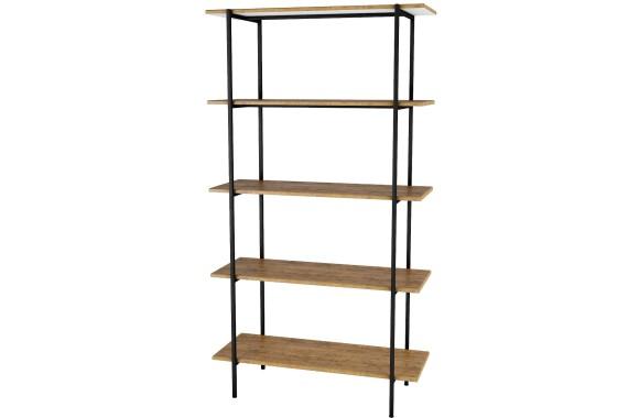 Книжный шкаф Стеллаж Атлантик 1645 дуб американский