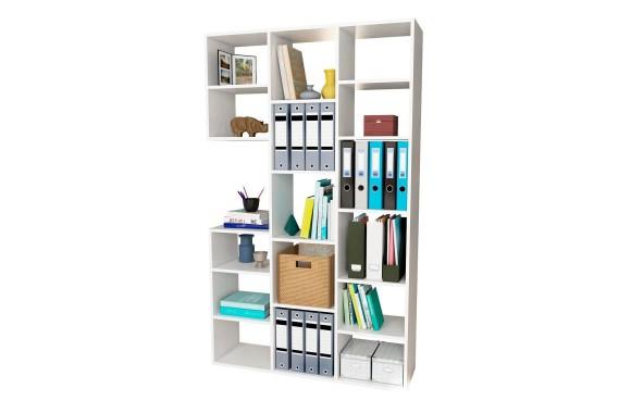 Книжный шкаф Стеллаж Рикс-1 белый