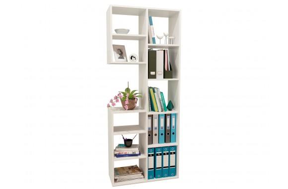 Книжный шкаф Стеллаж Рикс-2 белый