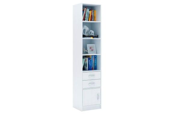 Книжный шкаф Стеллаж в комплекте Либерти-42 белый