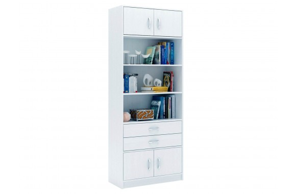 Шкаф Стеллаж в комплекте Либерти-51 белый