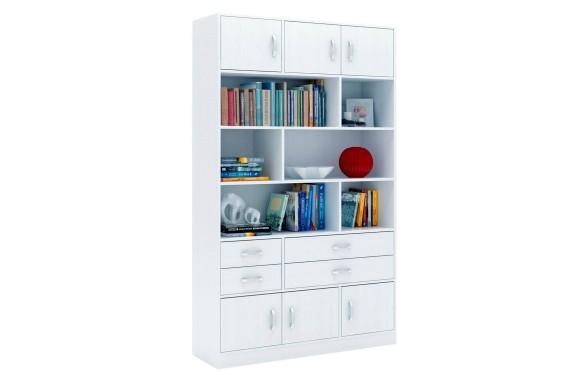 Шкаф Стеллаж в комплекте Либерти-62 белый