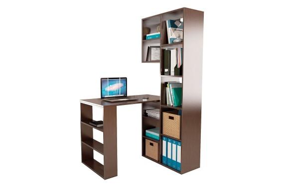 Книжный шкаф Стеллаж со столом Рикс-25 венге