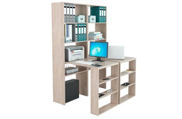 Книжный шкаф Стеллажи со столами Рикс-4545 дуб