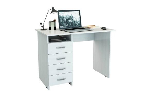 Компьютерный стол письменный Милан (0120) белый